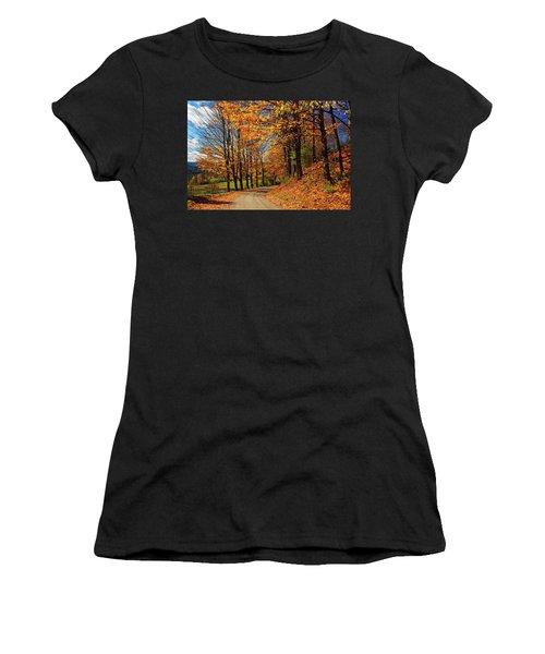 Winding Country Road In Autumn Women's T-Shirt (Athletic Fit)