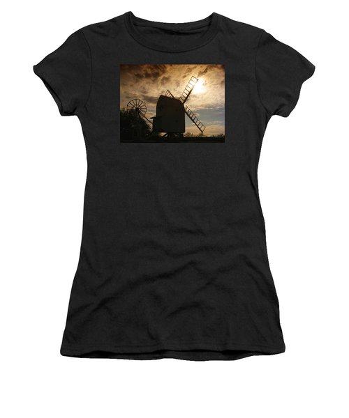 Windmill At Dusk  Women's T-Shirt