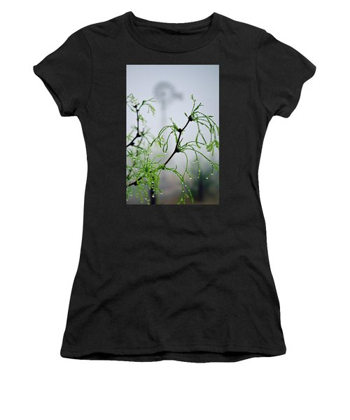 Windmill In The Mist Women's T-Shirt