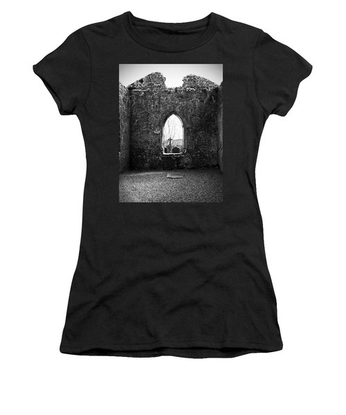 Window At Fuerty Church Roscommon Ireland Women's T-Shirt (Athletic Fit)