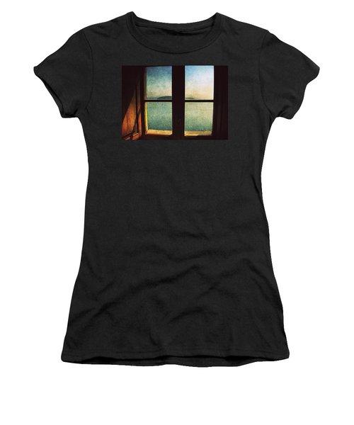 Window Overlooking The Sea Women's T-Shirt