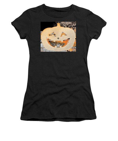 Window Pumpkin #3 Women's T-Shirt