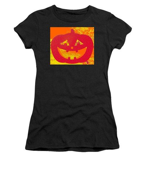 Window Pumpkin #4 Women's T-Shirt