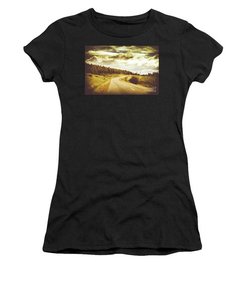 Window To A Rural Road Women's T-Shirt