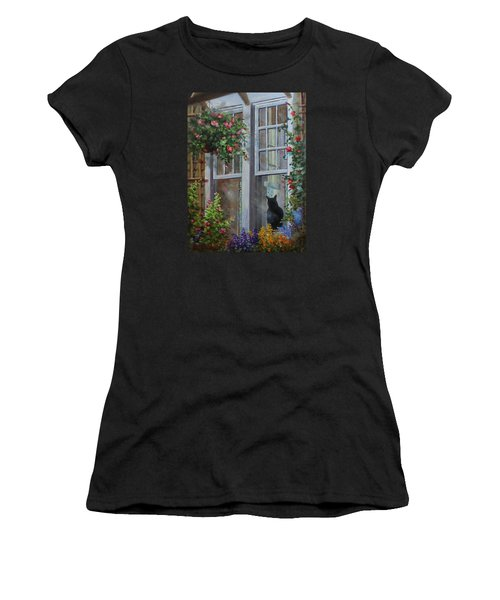 Window Watcher Women's T-Shirt (Athletic Fit)