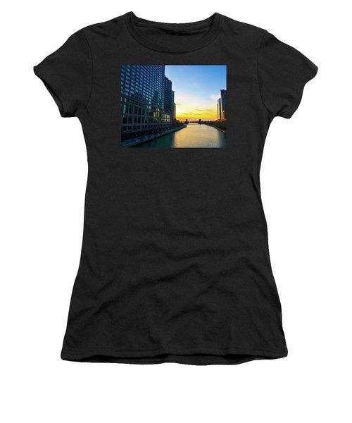 Windy City Sunrise Women's T-Shirt (Athletic Fit)