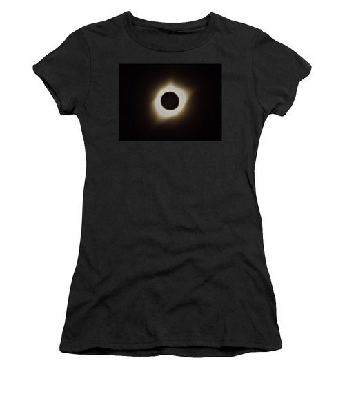 Windy Corona During Eclipse Women's T-Shirt (Athletic Fit)