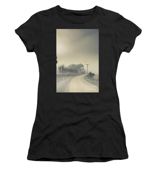 Windy Paths To Destinations Unknown Women's T-Shirt