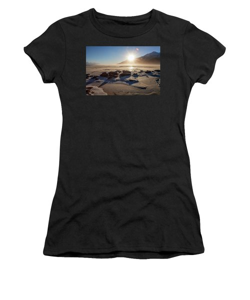 Windy Winter Sunset Women's T-Shirt (Athletic Fit)