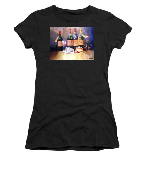 Wine And Cheese Women's T-Shirt (Athletic Fit)