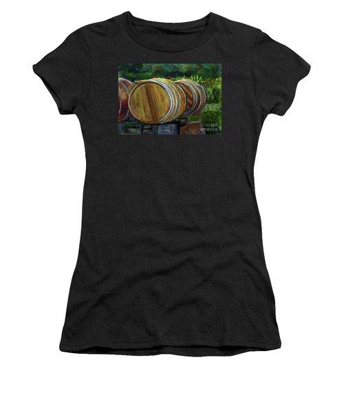 Wine Barrels Women's T-Shirt (Athletic Fit)