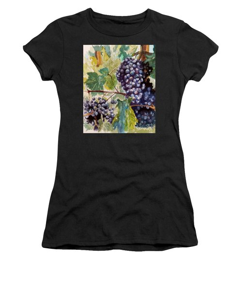 Wine Grapes Women's T-Shirt (Junior Cut) by William Reed