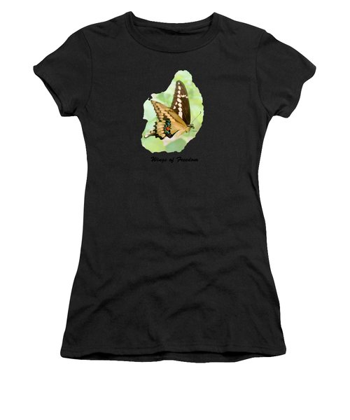 Wings Of Freedom By Claudia Ellis Women's T-Shirt (Athletic Fit)