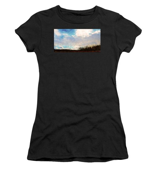 Winter Afternoon Sky Women's T-Shirt (Athletic Fit)