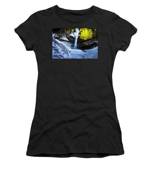 Winter At Latourell Falls Women's T-Shirt