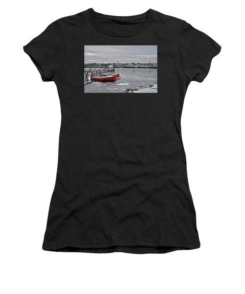 Winter At Newburyport Harbor Women's T-Shirt
