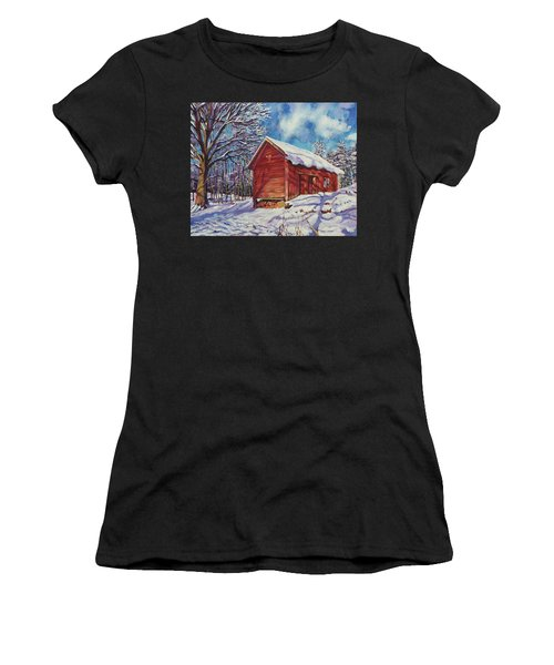 Winter At The Old Barn Women's T-Shirt