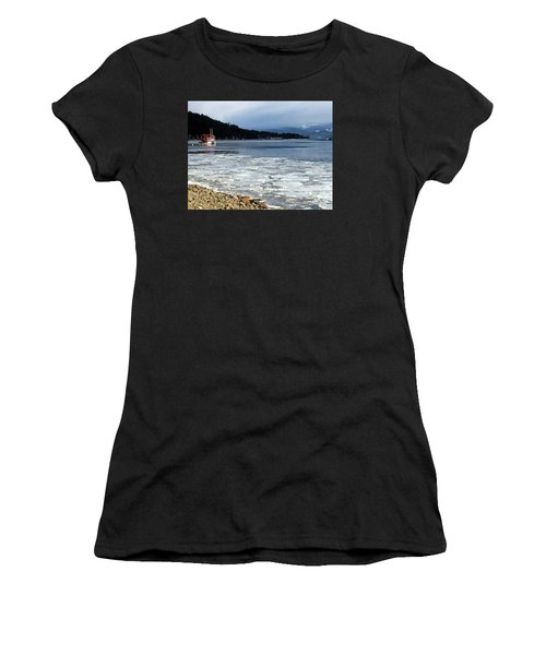 Cottage Life In Winter Women's T-Shirt
