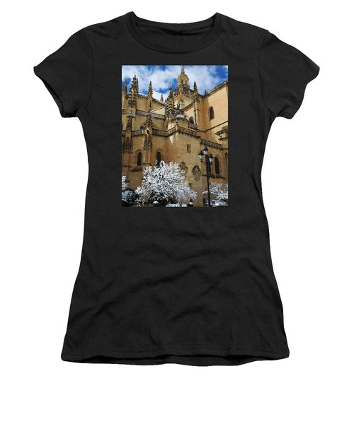 Winter Cathedral Women's T-Shirt (Athletic Fit)