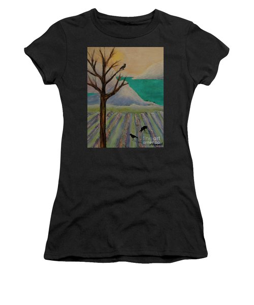 Winter Crows Women's T-Shirt (Athletic Fit)