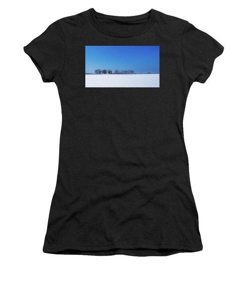 Winter Farm Blue Sky Women's T-Shirt