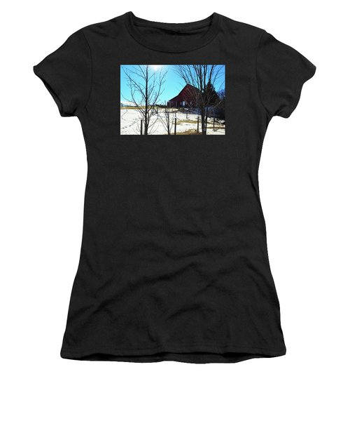 Winter Farm House Women's T-Shirt