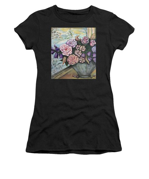 Winter Flowers Women's T-Shirt (Athletic Fit)