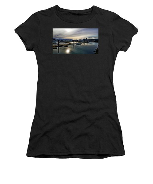 Winter Harbor Revisited #mobilephotography Women's T-Shirt