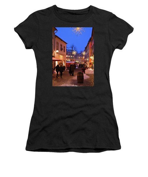 Women's T-Shirt featuring the photograph Winter Holidays In Bamberg by Tatiana Travelways