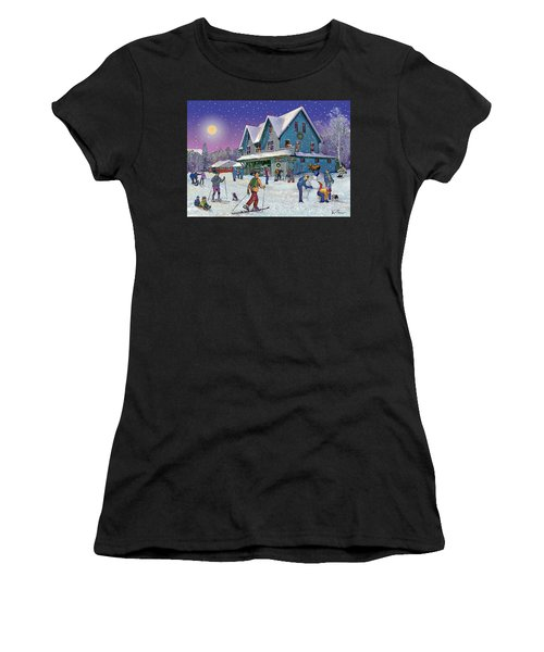 Winter In Campton Village Women's T-Shirt