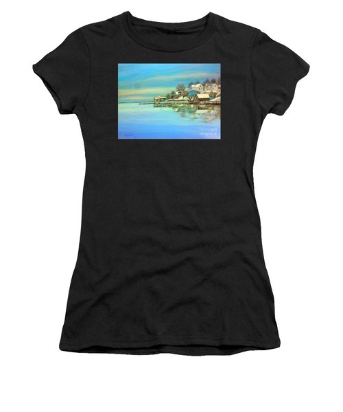 winter in Chester ,Nova Scotia  Women's T-Shirt (Athletic Fit)
