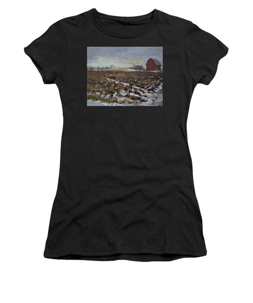 Winter In The Farm Women's T-Shirt