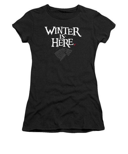Winter Is Here - Stark Sigil Women's T-Shirt (Athletic Fit)