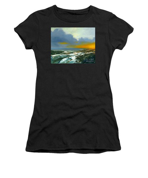 Winter Lake View Women's T-Shirt (Athletic Fit)