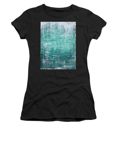 Women's T-Shirt featuring the painting Winter Landscape by Jocelyn Friis
