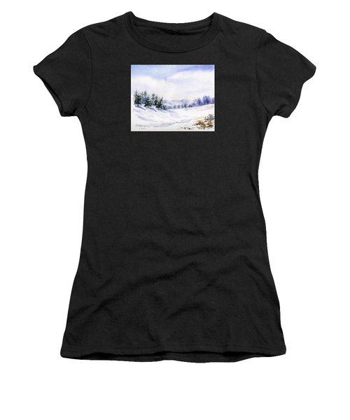 Winter Landscape Snow Scene Women's T-Shirt