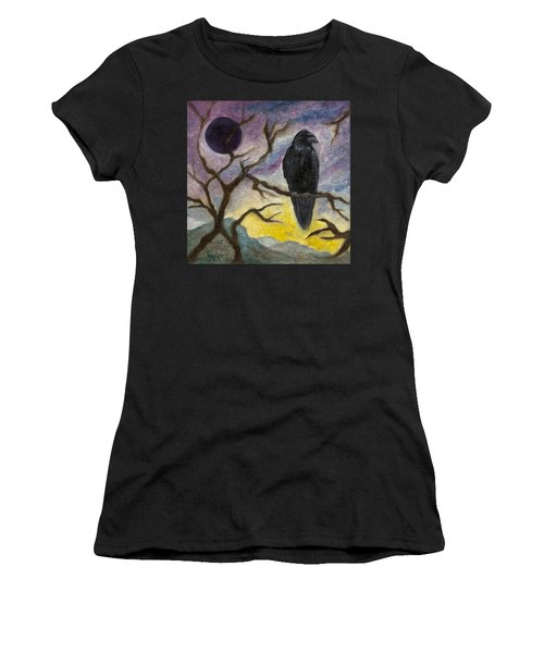 Winter Moon Raven Women's T-Shirt