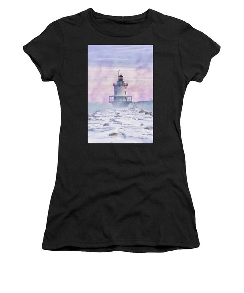 Winter Morning At Spring Point Ledge Women's T-Shirt (Athletic Fit)