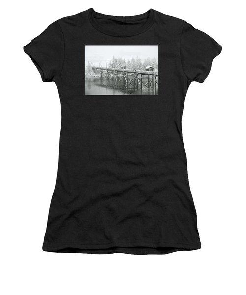 Winter Morning In The Pier Women's T-Shirt
