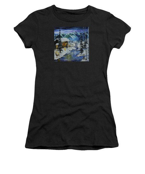 Winter Mountains Women's T-Shirt