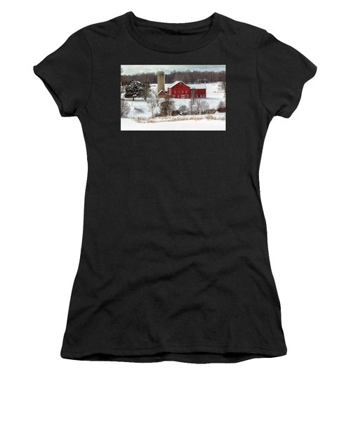 Winter On A Farm Women's T-Shirt