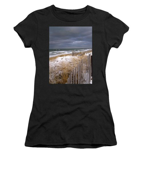 Winter On Cape Cod Women's T-Shirt (Athletic Fit)