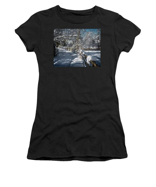 Winter On Ruskin Farm Women's T-Shirt (Athletic Fit)