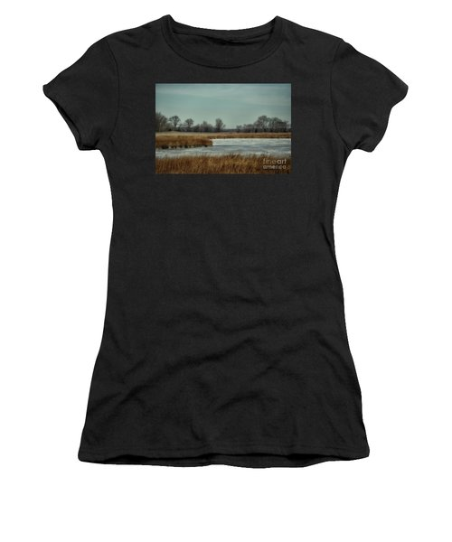 Winter On The Water Women's T-Shirt (Athletic Fit)