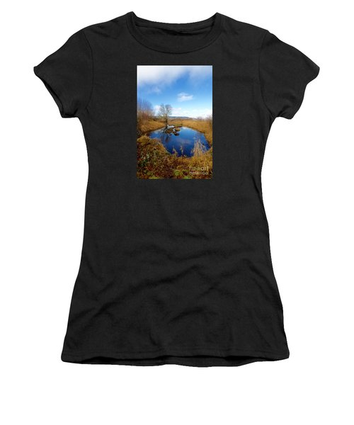 Winter Pond Women's T-Shirt (Athletic Fit)