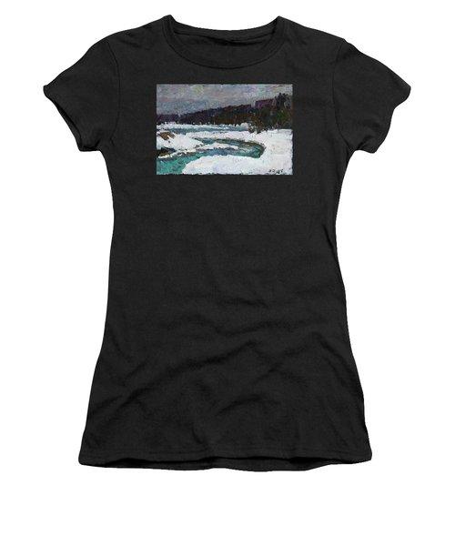 Winter River Women's T-Shirt (Athletic Fit)