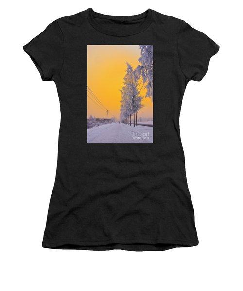 Winter Road 2 Women's T-Shirt