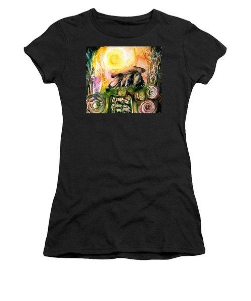 Winter Solstice , Ancient Stones Of Ireland   Women's T-Shirt (Junior Cut) by Trudi Doyle