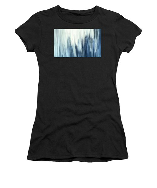 Winter Sorrows - Blue And White Abstract Women's T-Shirt