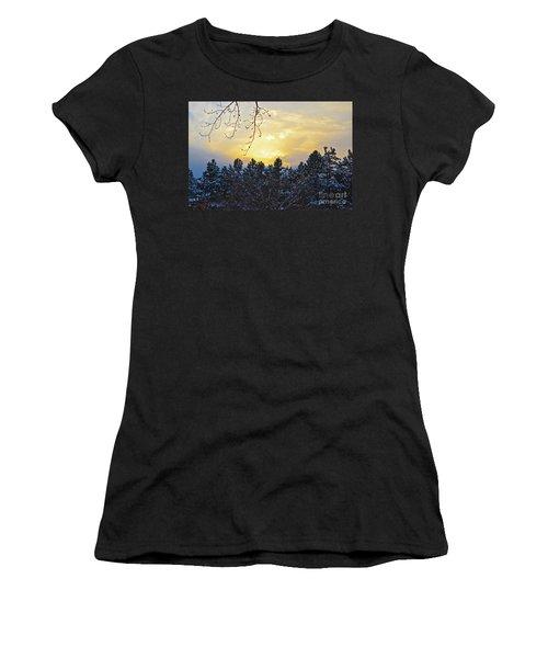 Winter Sunset On The Tree Farm #1 Women's T-Shirt